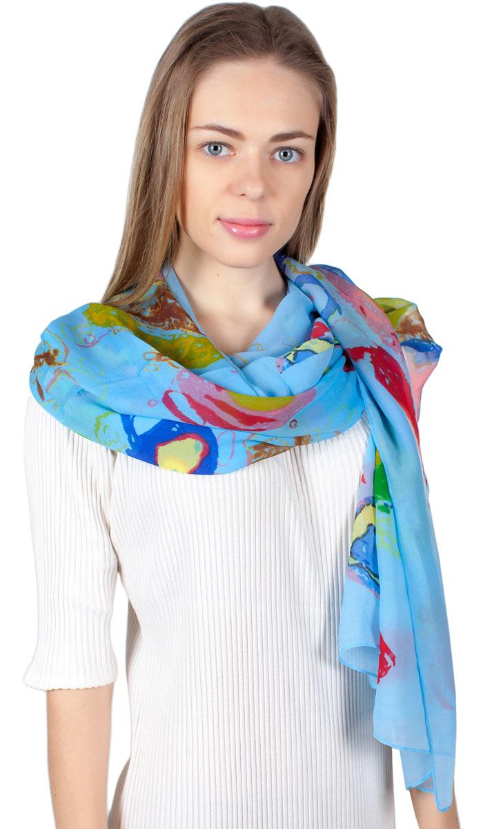 ПалантинYY-11722-3Яркий палантин Laura Milano изготовлен из шелка и полиэстера. Модель оформлена оригинальным принтом. Изделия Laura Milano приятные на ощупь и подойдут к любому стилю.