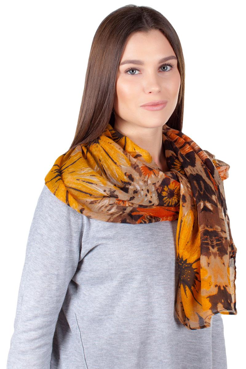 ПалантинYY-11734-3Яркий палантин Laura Milano изготовлен из модала и шелка. Модель оформлена оригинальным принтом. Изделия Laura Milano приятные на ощупь и подойдут к любому стилю.