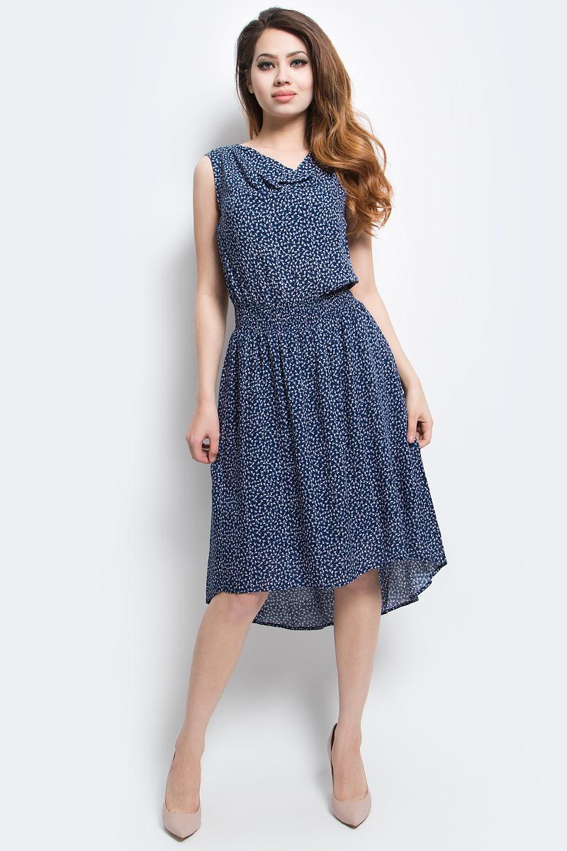ПлатьеS17-14044_107Платье Finn Flare выполнено из вискозы. Модель без рукавов оформлена оригинальным принтом.