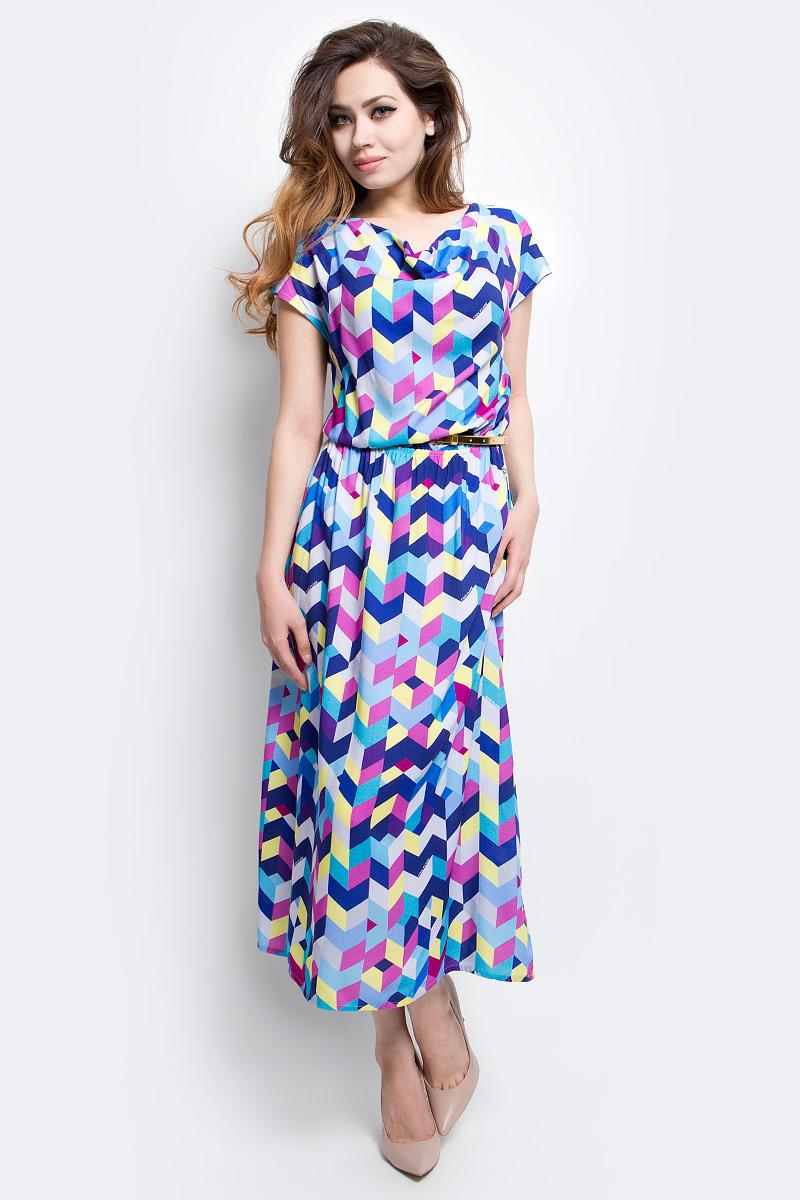 ПлатьеS17-14056_107Платье Finn Flare выполнено из вискозы. Модель оформлена оригинальным принтом.