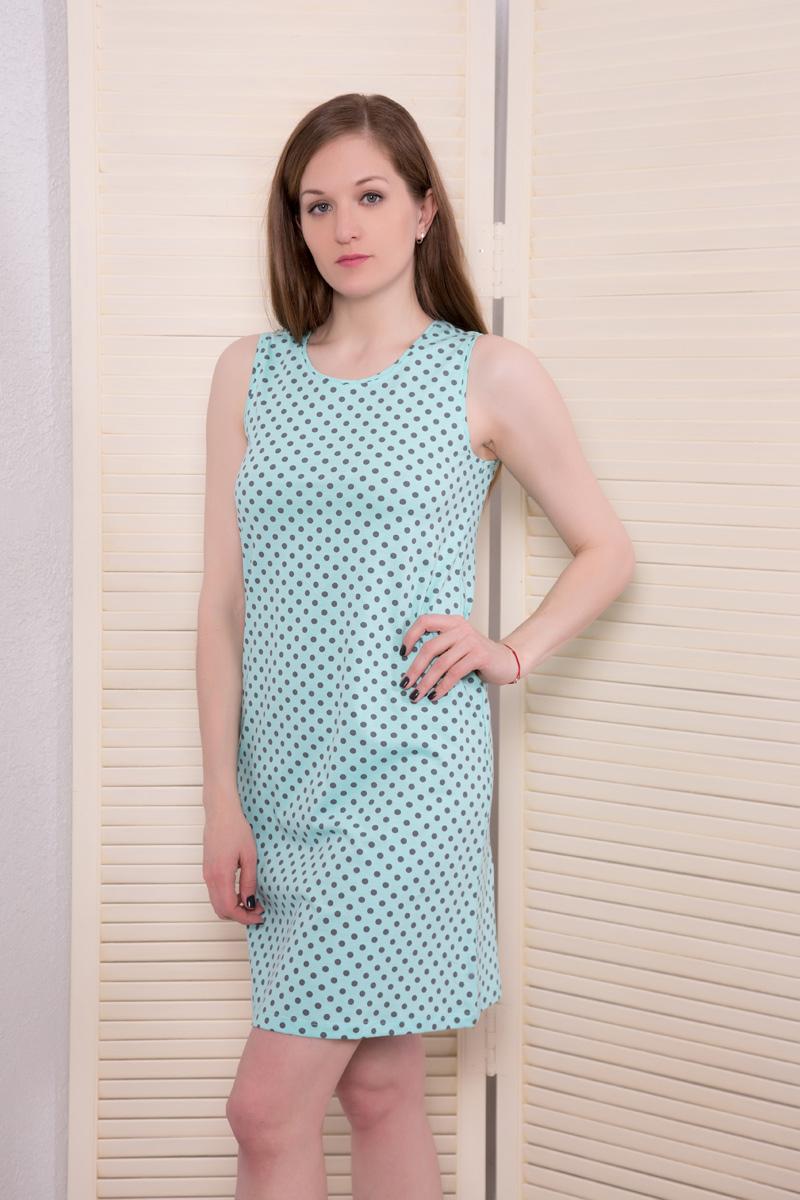 Платье домашнее17110523Туника/ майка без рукавов Мультиколор