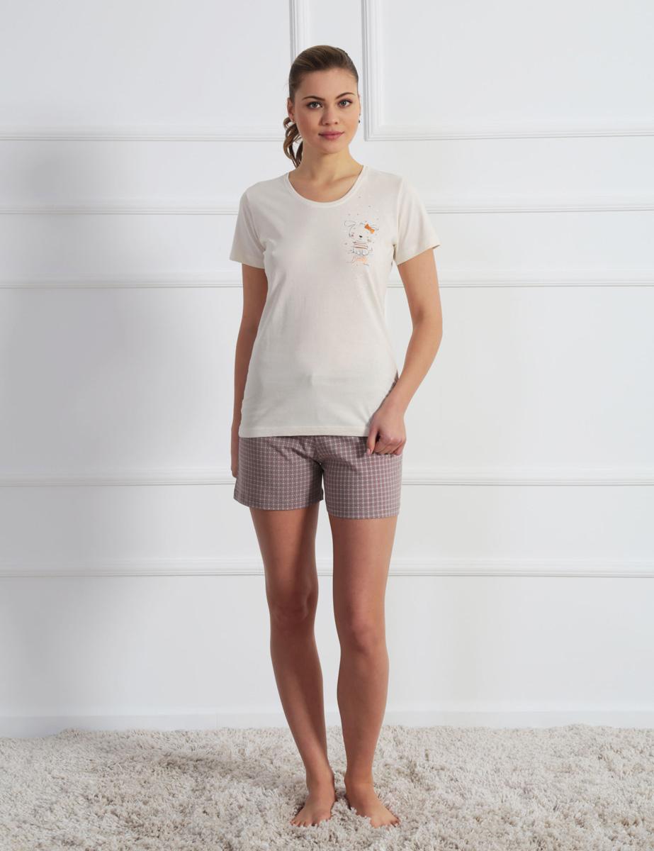 Домашний комплект610223 0352Комплект с шортами футболка зайчик