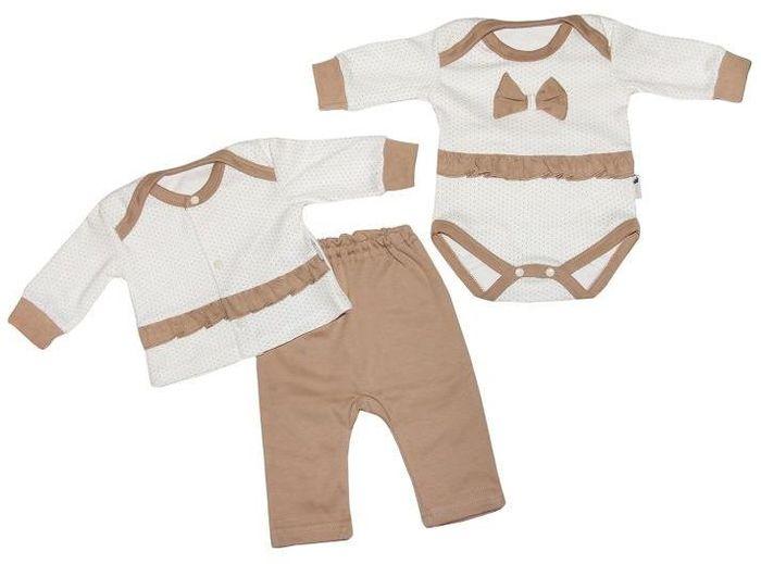 Комплект одежды33с-3173комплект состоит из боди, кофточки и брючек, 100% хлопок
