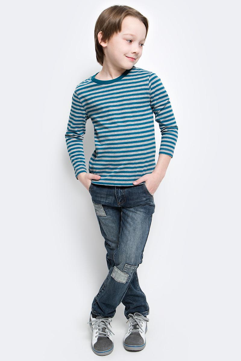 Футболка с длинным рукавом216BBBC12050705Лонгслив в полоску - основная составляющая модного детского функционального гардероба. Модель с длинным рукавом выполнена из высококачественного материала.