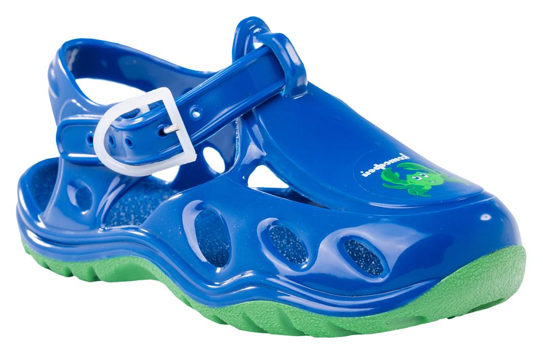 Сандалии326003-01Модные сандалии для мальчика от Котофей полностью выполнены из резины. Ремешок с пряжкой надежно зафиксирует модель на ноге. Подошва дополнена рифлением.
