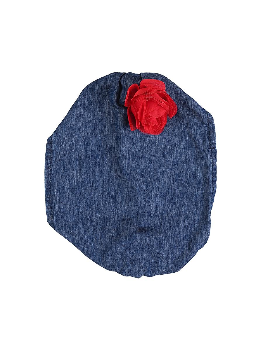 Повязка на голову детская714168Джинсовая повязка на голову для девочки Sweet Berry, изготовленная из натурального хлопка, защитит голову вашей малышки от солнца и сильного ветра. Модель оформлена объемным цветком и дополнена мягкой эластичной резинкой для фиксации на голове. Уважаемые клиенты! Размер, доступный для заказа, является обхватом головы.