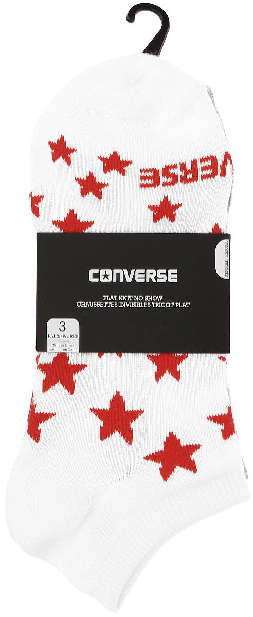 Комплект носковE574A3001Женские носки Converse изготовлены из качественного полиэстера с добавлением эластана. Укороченная модель декорирована буквенным принтом и звездочками контрастного цвета. Эластичная резинка плотно облегает ногу, не сдавливая ее.