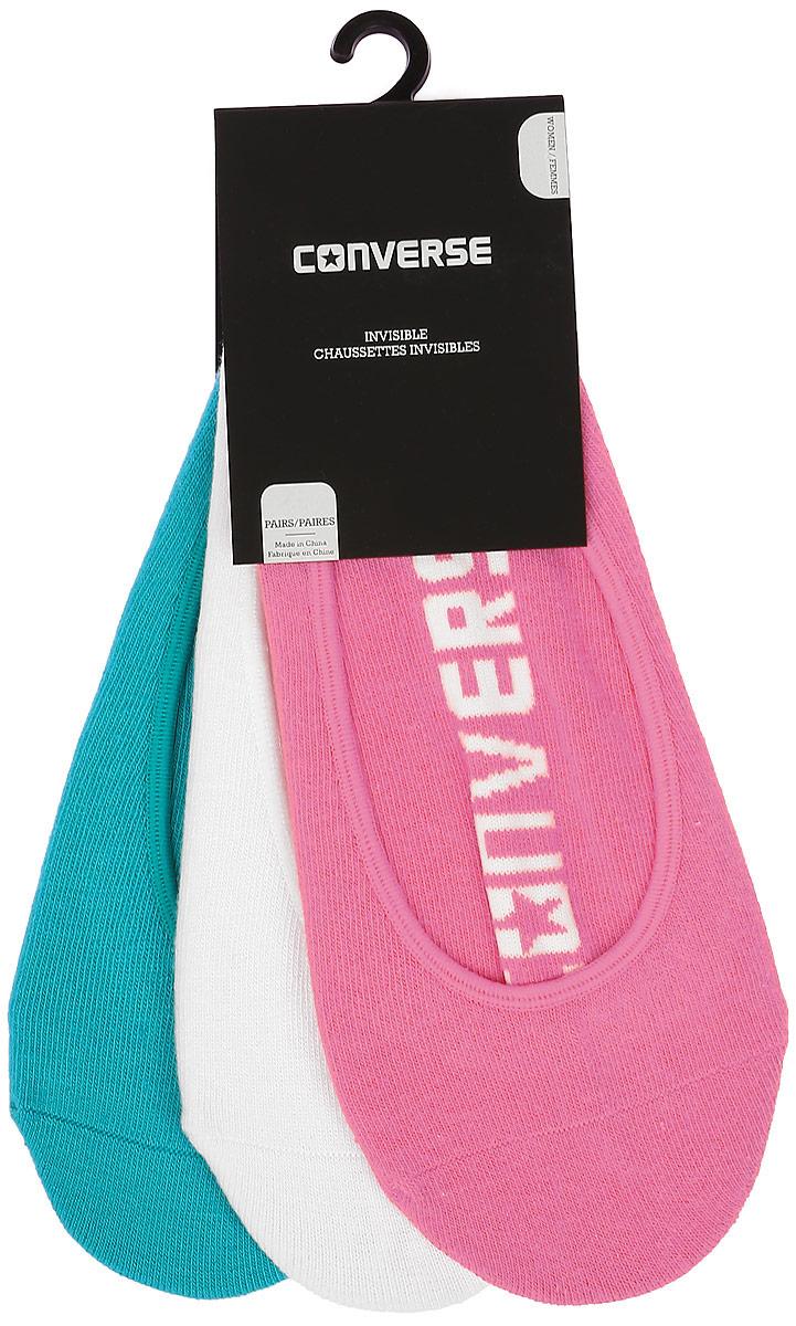 Комплект носковE221A3009Женские носки Converse изготовлены из качественного хлопка с добавлением нейлона и эластана. Модель выполнена в виде подследников и оформлена буквенным принтом.