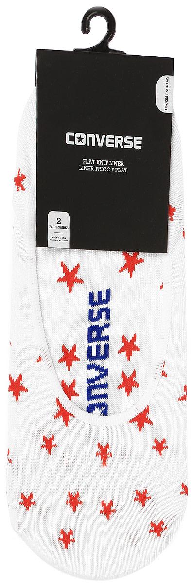 Комплект носковE567W2001Женские носки Converse изготовлены из качественного хлопка с добавлением нейлона и эластана. Модель выполнена в виде подследников и оформлена оригинальным принтом.