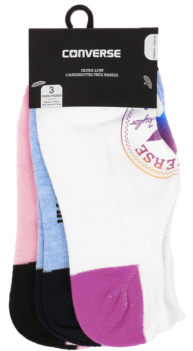 Комплект носковE439A3009Женские носки Converse изготовлены из качественного полиэстера с добавлением эластана. Укороченная модель декорирована оригинальным принтом.