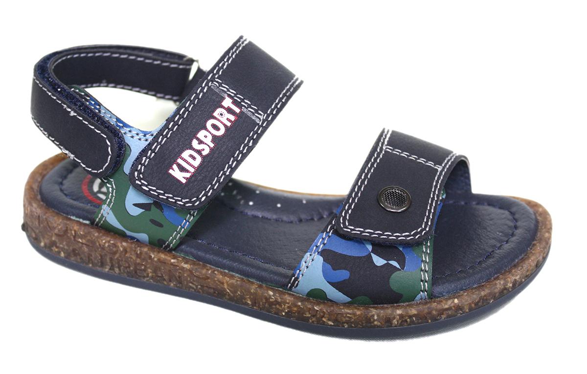СандалииBY7066-1HЛетние сандалии от Leopard Kids займут достойное место в гардеробе вашего ребенка. Модель выполнена из искусственной кожи. Верх изделия дополнен двумя удобными застежками-липучками, декорированными контрастной прострочкой, которые обеспечат практичную фиксацию модели на ноге и отрегулируют объем. Кожаная стелька, украшенная логотипом бренда, обеспечивает уют и комфорт при ходьбе. Изделие в области пятки также дополнено двумя регулируемыми застежками-липучками. Рифленая поверхность подошвы защищает изделие от скольжения. Очаровательные сандалии приведут в восторг вашего мальчика.
