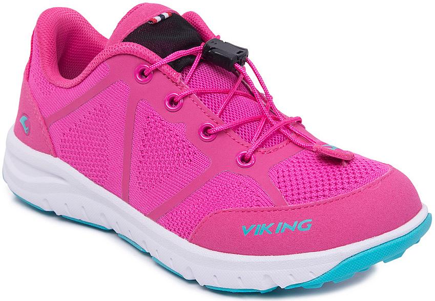 Кроссовки3-47660-09622Кроссовки для девочки от Viking, выполненные из полиэстера, оформлены эмблемой и названием бренда. Модель на подъеме дополнена шнуровкой, которая обеспечивает надежную фиксацию обуви на ноге. Подкладка и стелька из полиэстера создают комфорт при носке. Облегченная подошва из вспененного полимера оснащена рифлением, что повышает сцепление с любым покрытием, улучшает амортизацию и поглощает удары. Яркие модные кроссовки - незаменимая вещь в гардеробе вашего ребенка.
