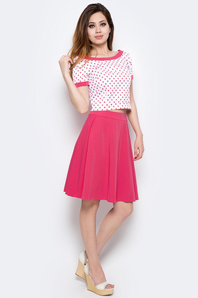 Комплект одеждыWD-2492FПлатье прилегающего силуэта, отрезное по талии, с короткими втачными рукавами, юбка расклешенная со складками.
