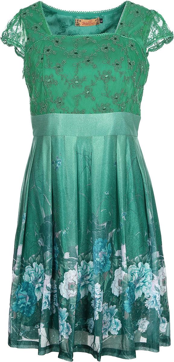 ПлатьеWD-2443CПлатье А-образного силуэта, с завышенной линией талии, с короткими втачными рукавами.