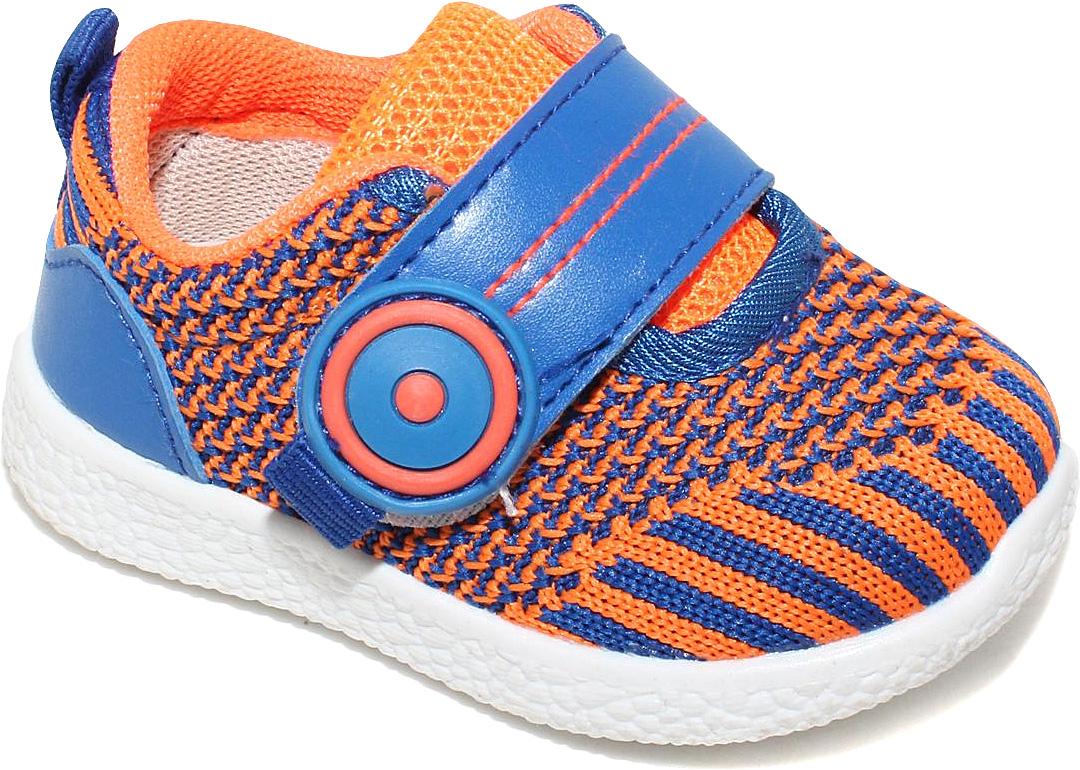 КроссовкиC6772Кроссовки для мальчика от Капитошка выполнены из текстиля. На ноге модель фиксирует ремешок на липучке. Внутренняя поверхность изготовлена из текстиля, стелька - из натуральной кожи. Подошва из резины оснащена рифлением.