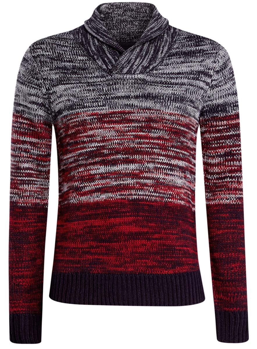 Пуловер4L205020M/25700N/7945MМужской джемпер oodji Lab выполнен из акрила и шерсти. Модель с воротником-шалькой и длинными рукавами.