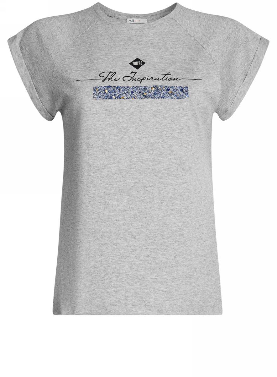 Футболка14707001-8/26204/2029ZФутболка с рукавом реглан и декором на груди