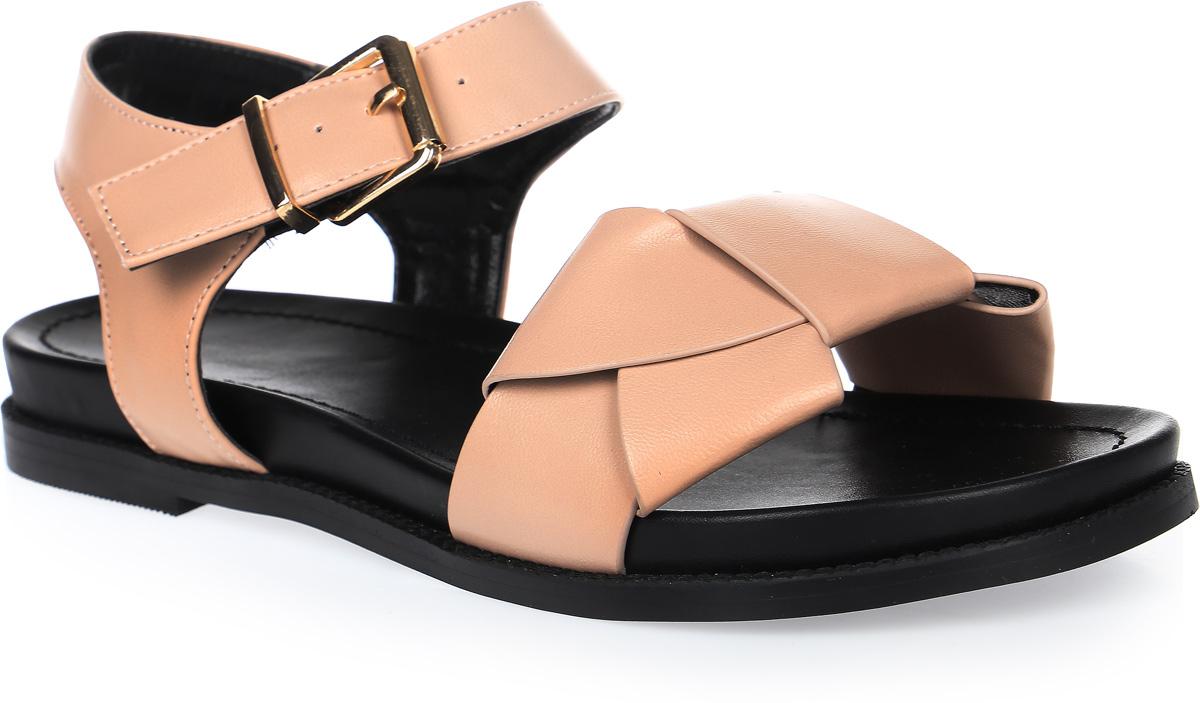 СандалииSP-FA2101-1 PU (SP-F03001 БЕЖ)Удобные сандалии на плоской подошве выполнены из искусственной кожи. Сандалии фиксируются на ноге при помощи застежки-пряжки.