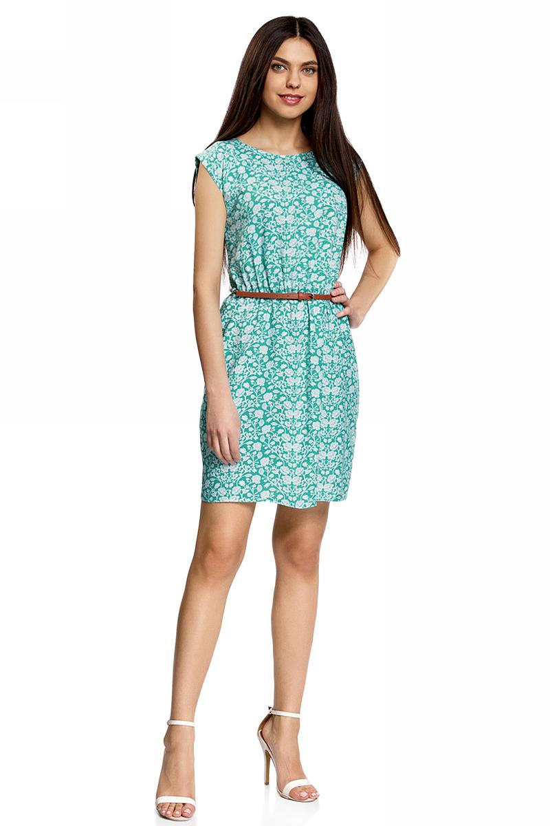 Платье11910073-2B/45470/4512FПлатье без рукавов из принтованной вискозы