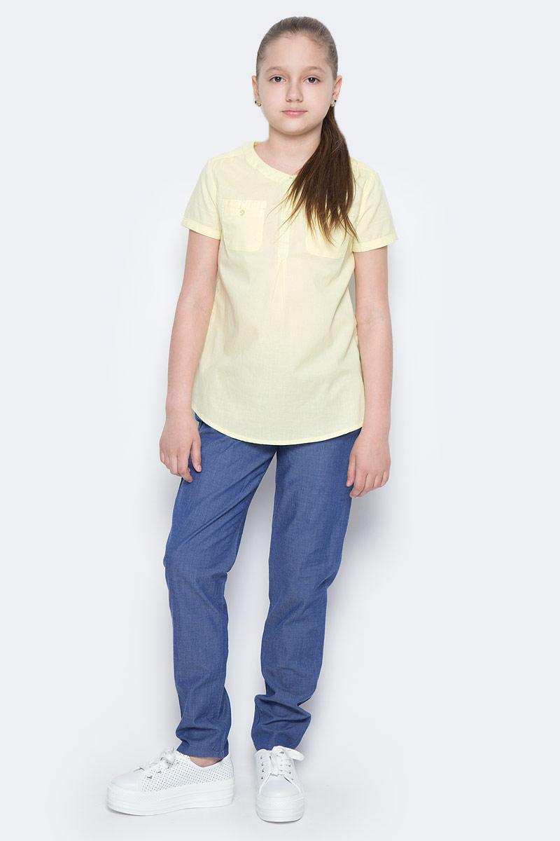 БрюкиP-615/511-7223Стильные брюки для девочки Sela выполнены из натурального хлопка. Брюки свободного кроя и стандартной посадки на талии имеют широкий пояс на мягкой резинке. Модель дополнена двумя втачными карманами спереди.