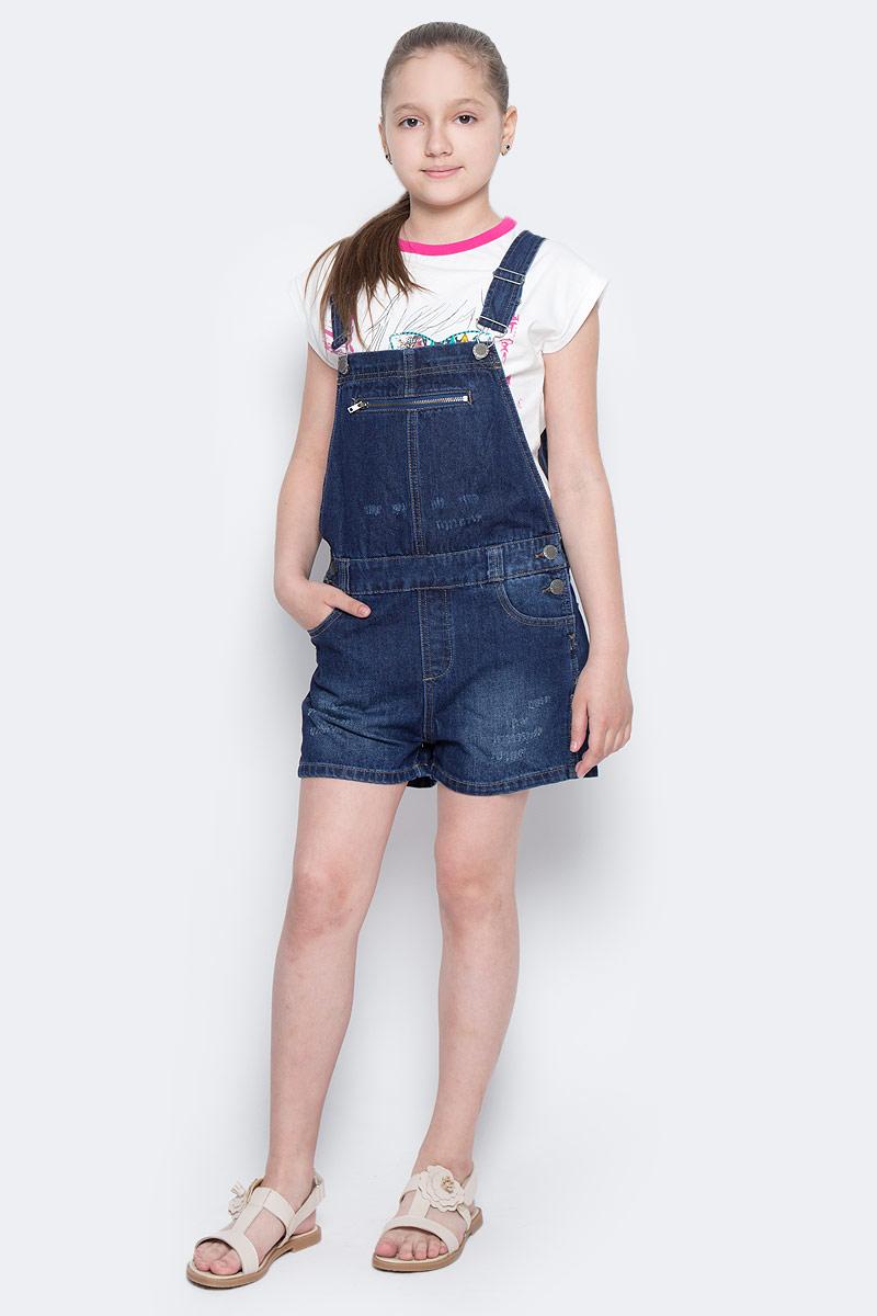 Полукомбинезон117BBUC6701D200Детский джинсовый полукомбинезон - не только очень удобная модель летнего гардероба, но и трендовая вещь. В компании с любой майкой, футболкой, поло полукомбинезон составит достойный летний комплект. Если вы хотите купить недорого джинсовый полукомбинезон с модными потертостями, заминами, варкой, не сомневаясь в его качестве, высоких потребительских свойствах и соответствии модным трендам, полукомбинезон от Button Blue - лучший вариант!