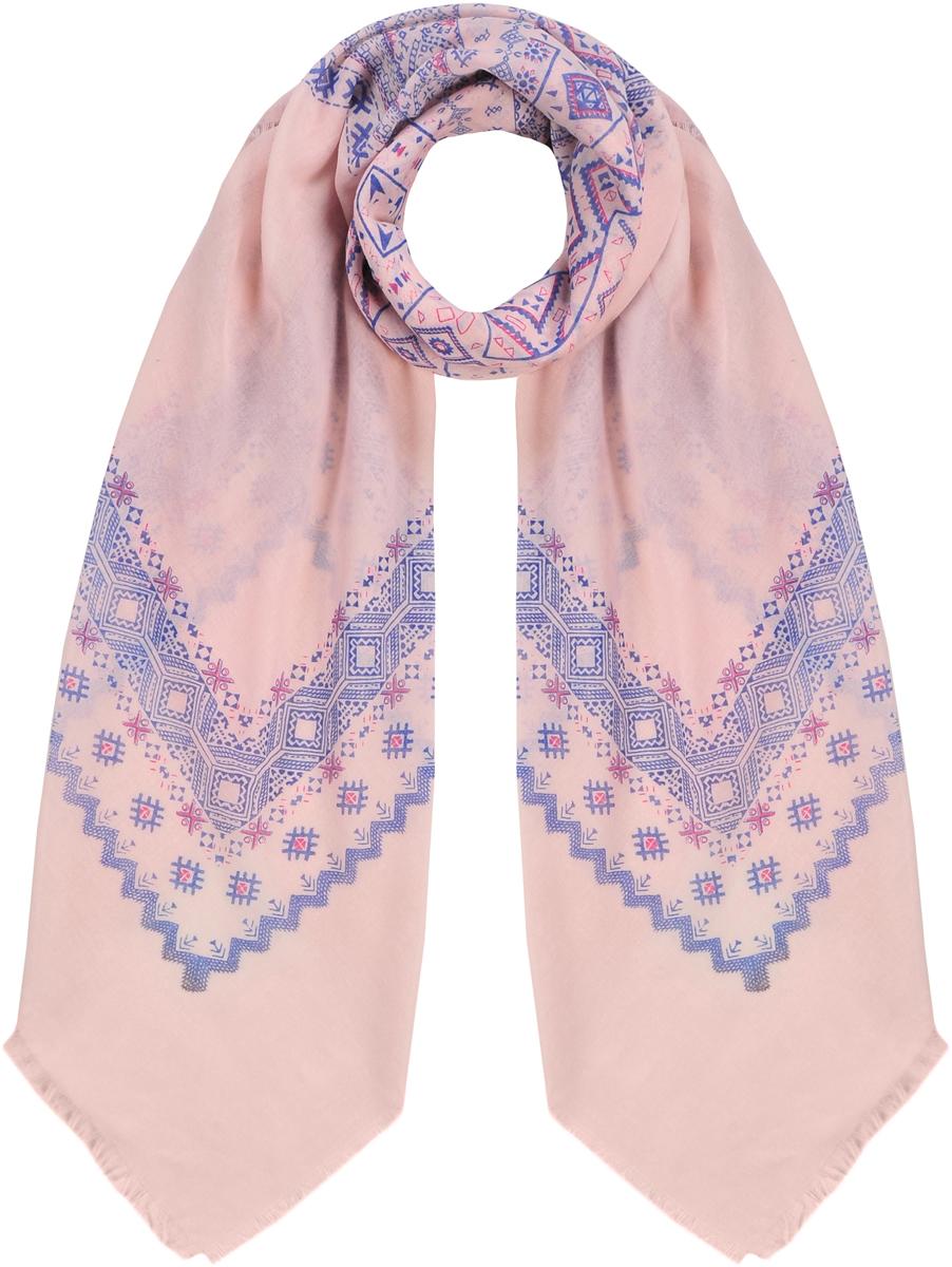 Платок23/0529/181Классический головной платок с натуральным хлопком в составе. В основе ориентальный геометрический принт. По краям декорирован бахромой. Состав: 30% хлопок; 70% полиэстер. Размер: 130х130 см.