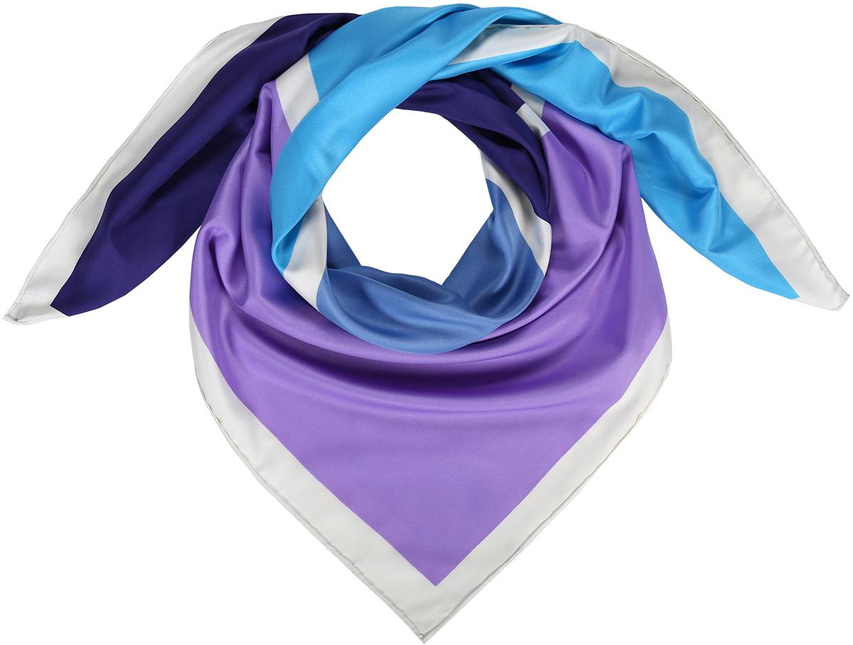 Платок23/0545/162Лаконичный платок-каре из натурального шелка. Принт с цветными квадратными блоками в белой рамке. Ручная обработка края. Легкий и приятный к телу. Состав: 100% шелк. Размер 90*90 см.