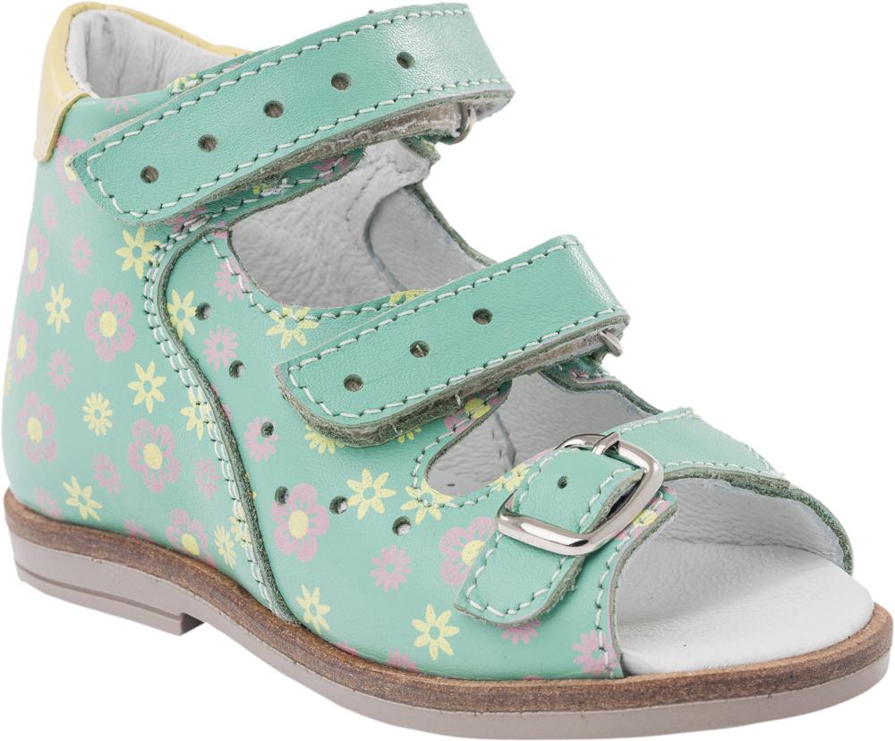 Сандалии022083-21Модные сандалии для девочки от Котофей выполнены из натуральной кожи и оформлены цветочным принтом. Внутренняя поверхность и стелька из натуральной кожи обеспечат комфорт при движении. Ремешки с застежками-липучками и металлической пряжкой надежно зафиксируют модель на ноге. Подошва дополнена рифлением.