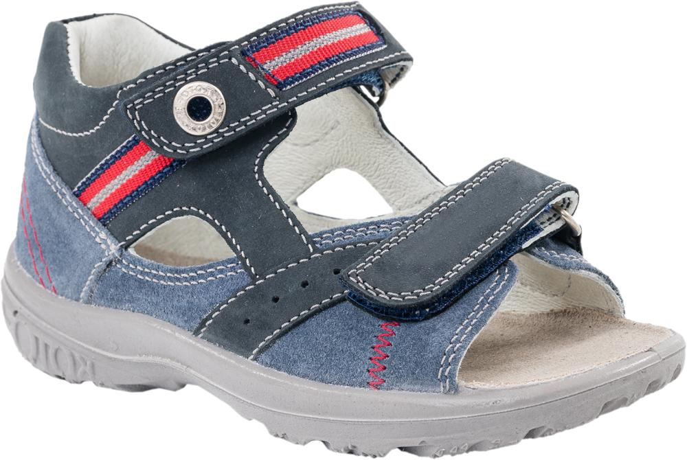 Сандалии322024-24/122078-24Модные сандалии для мальчика от Котофей выполнены из натуральной кожи. Ремешки с застежками-липучками надежно зафиксируют модель на ноге. Внутренняя поверхность и стелька из натуральной кожи обеспечат комфорт при движении. Подошва дополнена рифлением.