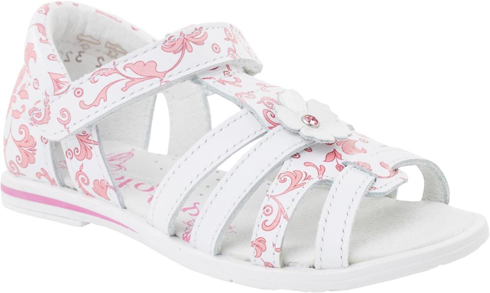 Сандалии322031-23Модные сандалии для девочки от Котофей выполнены из натуральной кожи и оформлены оригинальным узором. Внутренняя поверхность и стелька из натуральной кожи обеспечат комфорт при движении. Ремешок с застежкой-липучкой надежно зафиксирует модель на ноге. Подошва дополнена рифлением.