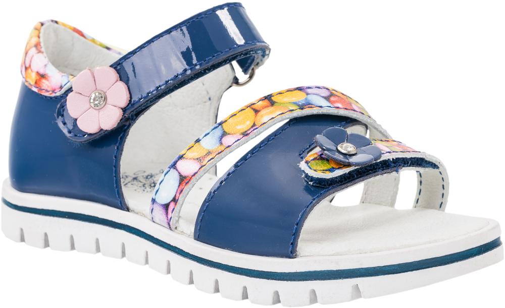 Сандалии322042-21Модные сандалии для девочки от Котофей выполнены из натуральной кожи. Внутренняя поверхность и стелька из натуральной кожи обеспечат комфорт при движении. Ремешки с застежками-липучками надежно зафиксируют модель на ноге. Подошва дополнена рифлением.