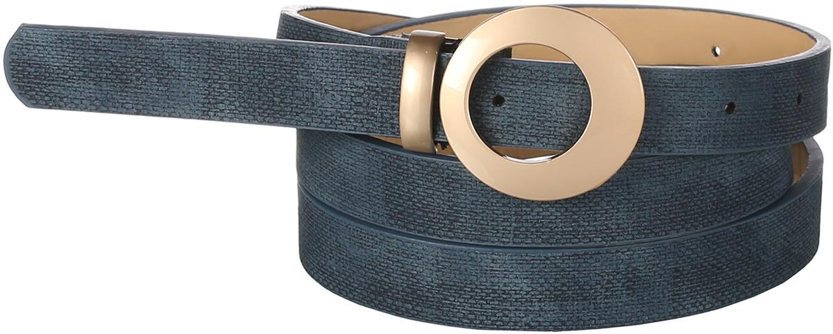 Ремень91/0268/006Стильный ремень в этническом стиле выполнен из искусственной кожи. Модель декорирована круглой, внутри ассиметричной, пряжкой золотистого цвета.