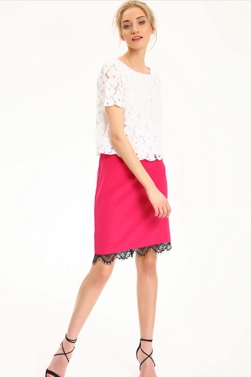 БлузкаSBK2220BIБлузка женская Top Secret выполнена из полиамида и хлопка. Модель с круглым вырезом горловины и короткими рукавами.