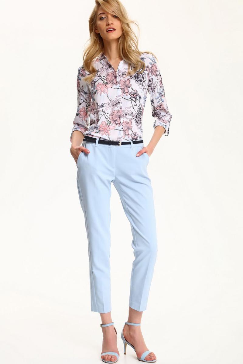 БрюкиSSP2471NIСтильные женские брюки Top Secret - брюки высочайшего качества на каждый день, которые прекрасно сидят. Модель изготовлена из высококачественного комбинированного материала. Эти модные и в тоже время комфортные брюки послужат отличным дополнением к вашему гардеробу. В них вы всегда будете чувствовать себя уютно и комфортно.
