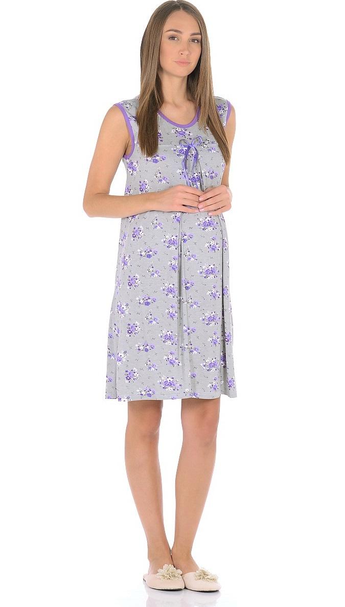 Ночная рубашка191010Женственная ночная сорочка для беременных женщин и кормящих мам, изготовлена из вискозного полотна. Модель без рукавов, свободного силуэта, с округлым вырезом горловины. В данной модели привлекает внимание женственный дизайн, красивая расцветка с контрастной окантовкой и декором на груди, отменный пошив, приятная структура ткани. Свободный крой с красивыми складками от высокой отрезной кокетки предусматривает пространство для животика во время беременности, создает комфорт и свободу движениям во время домашнего отдыха и сна.