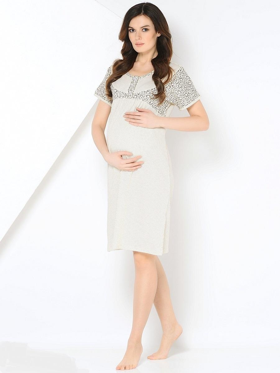 Ночная рубашка180127Комфортная хлопковая сорочка для беременных, с коротким цельнокроеным рукавом, дополненная кокеткой на пуговицах. Мягкая, хлопковая ткань, женственный продуманный крой, окантовка делают сорочку комфортной и любимой. Приятная пастельная цветовая гамма создаст хорошое настроение. Сорочка подойдет как на всем сроке беременности, так и в период грудного кормления.