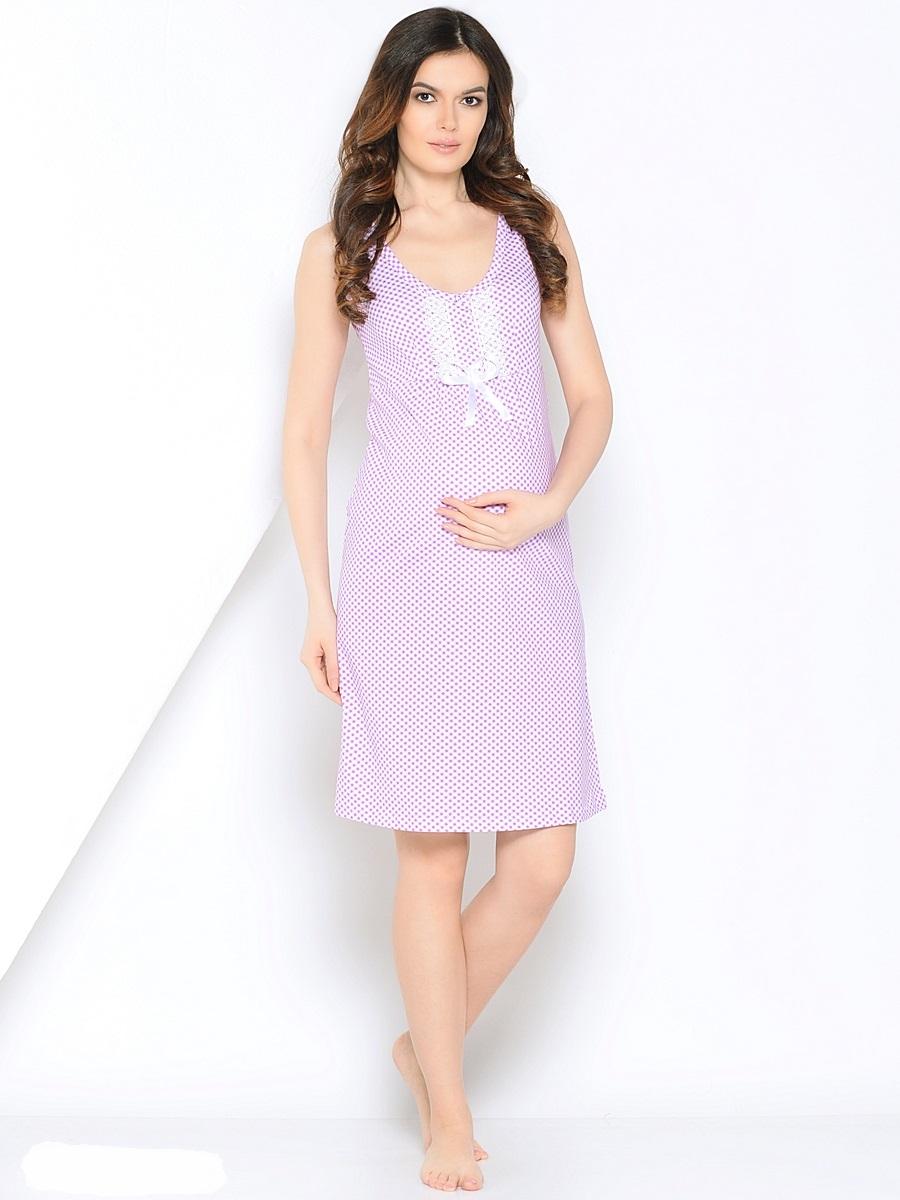Ночная рубашка180129Женственная сорочка для беременных и кормления из мягкого трикотажного полотна. Сорочка украшена изумительным кружевом и очаровательным бантиком, дополнена практичными кнопочками, которые создадут удобство и комфорт при кормлении малыша.