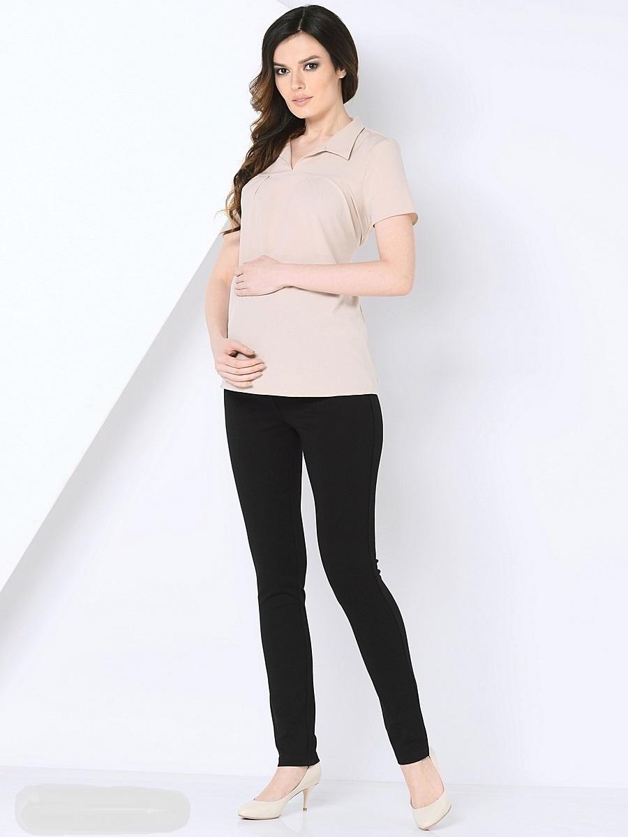 Блузка210202Красивая блузка для беременных, выполнена из тонкого, эластичного трикотажного полотна свободного покроя. Блузка с V - образным вырезом, с отложным воротником, с коротким рукавом и втачным пояском в боковых швах. Блузка подойдет как для работы в офисе, так и на каждый день.