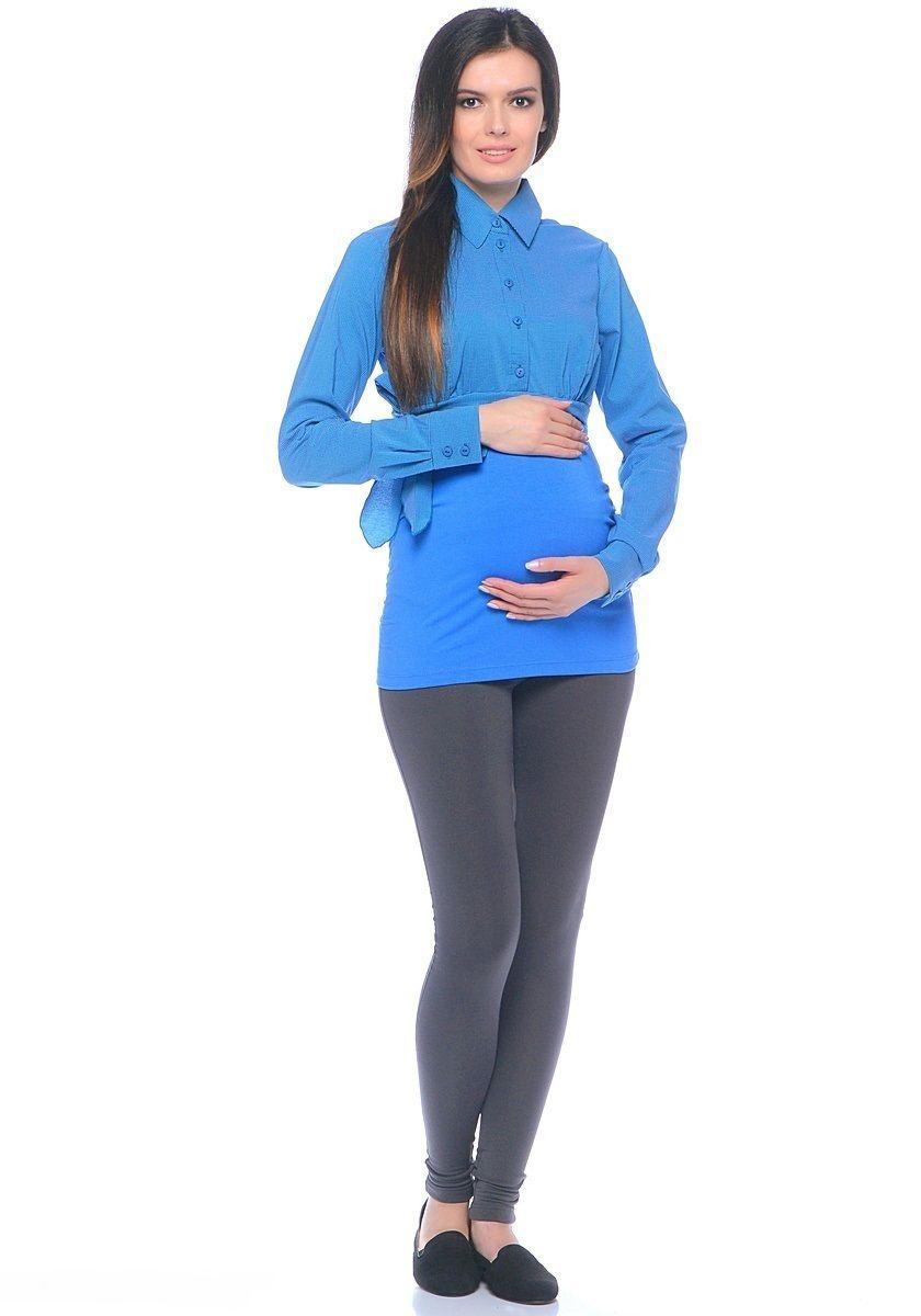 Блузка20101Комбинированная блузка для беременных из вискозного полотна и трикотажа. Верхняя часть блузки выполнена по фасону классической рубашки рельефного кроя, с передней планкой на пуговицах. Нижняя часть блузки от кокетки, из эластичного трикотажа, боковые швы присобраны на формирующие резиночки. Сочетая в себе продуманный дизайн и положительные характеристики в носке, такую блузку комфортно носить на любом сроке беременности и после рождения малыша.