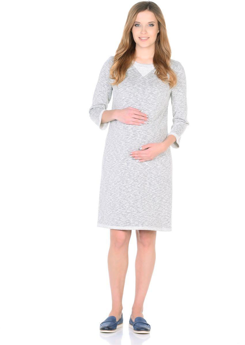 Платье304313Модное повседневное платье для беременных прямого силуэта, с округлым вырезом горловины, с рукавом 3/4. Платье изготовлено из ткани футер в современном цвете. Особая обработка краев платья с эффектом незавершенности, придает лаконичному фасону оттенок гранжевого стиля, декоративная вставка по вороту подчеркивает непринужденность образа. Платье отлично садится по фигуре, не сковывает движений, мягкая ткань создает комфорт для тела. Универсальный фасон позволяет носить такое платье как в период беременности, так и после рождения малыша.