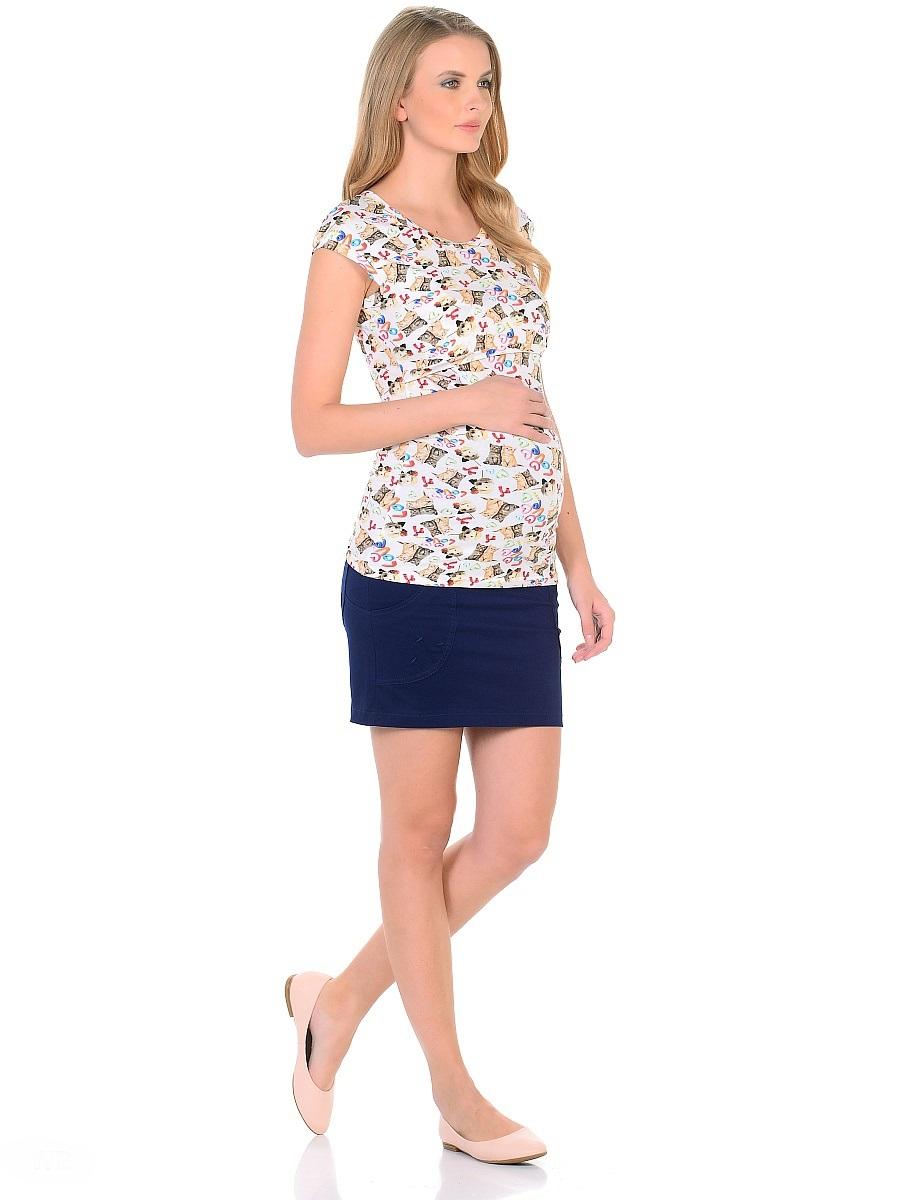 Блузка207120/1Футболка с секретом кормления для беременных и кормящих женщин, изготовлена из трикотажного полотна в привлекательной расцветке. Футболка приталенного покроя, со спущенной линией плеча, с округлым вырезом горловины. Для удобного кормления достаточно приподнять кокетку, и с комфортом покормить малыша не заметно для окружающих. Практичный и мягкий вискозный трикотаж с небольшим добавлением лайкры, хорошо растягивается и бережно облегает, ткань приятная к телу. Футболка идеально сидит по фигуре, не сковывает движений, обеспечивает комфорт.
