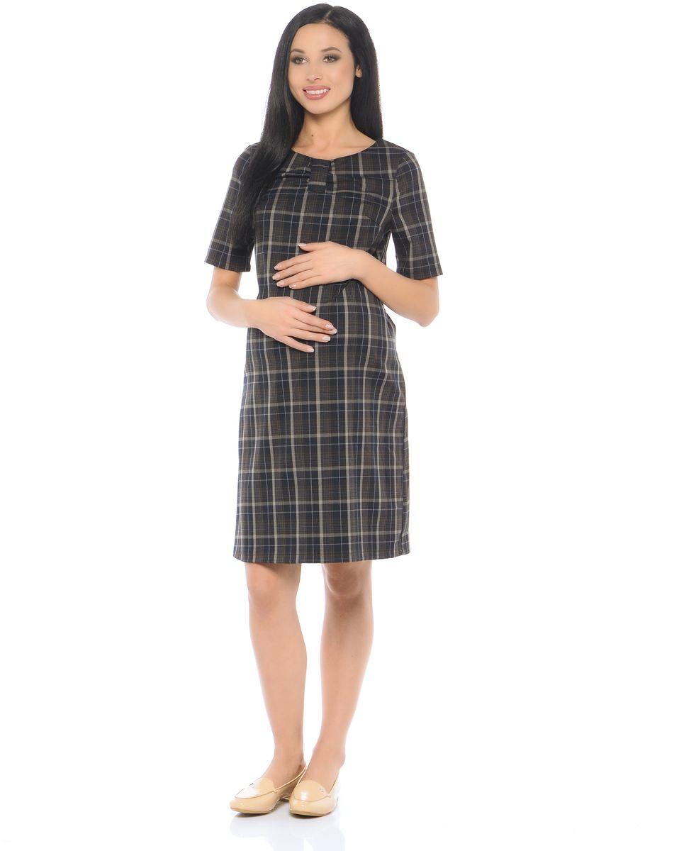 Платье300314Элегантное платье для беременных, выполнено из приятного к телу полотна в модной расцветке-клетка. Модель свободного кроя, с коротким рукавом и округлым вырезом горловины. Продуманный крой с вытачками обеспечивает хорошую посадку по фигуре и предусматривает объём для животика. В тачной поясок по бокам позволяет регулировать силуэт. Верхняя часть платья декорирована стильным элементом в виде банта. Такое платье будет уместно в рамках любого стиля: в классическом, повседневном или деловом на протяжении всего периода беременности и после него.