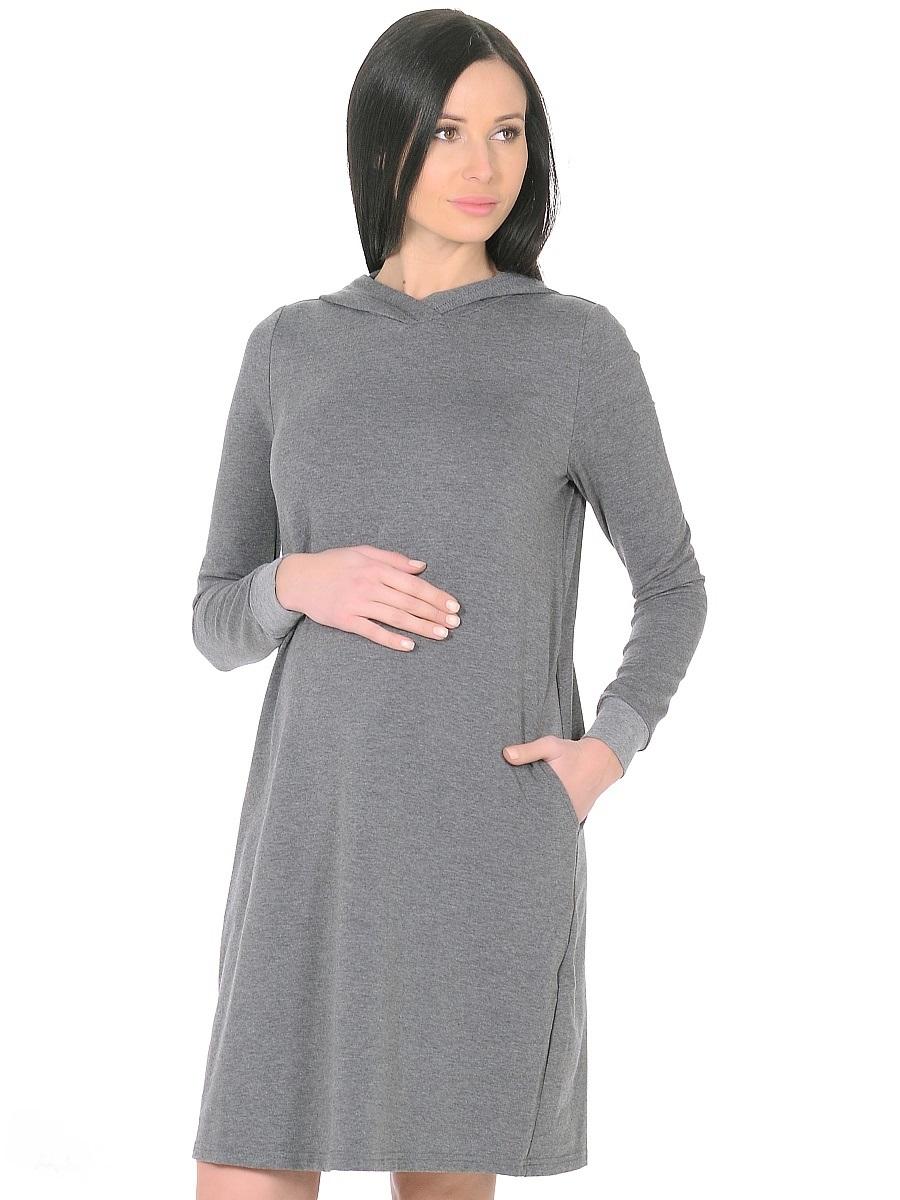 Платье300315Стильное повседневное платье для беременных. Комфортная модель прямого силуэта, с длинными рукавами на манжетах. Капюшон и практичные карманы в боковых швах придают платью спортивный оттенок. Платье отлично садится по фигуре, не сковывает движений, мягкая ткань создает комфорт для тела. Универсальный фасон позволяет носить такое платье как в период беременности, так и после рождения малыша.