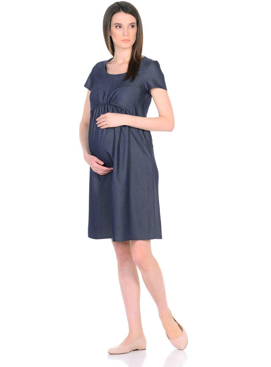 Платье300317Стильное платье для беременных из легкого денима. Модель свободного покроя, со встречными складками от фигурной кокетки, имеет короткие рукава и округлый вырез горловины. Современный фасон с точностью продуман под особенности фигуры беременной женщины, благодаря этому платье не сковывает движений, создает комфорт в процессе носки. Лаконичный фасон в нейтральной расцветке позволяет дополнять такое платье любыми предметами гардероба, украшениями и аксессуарами, создавая различные образы на каждый день или для особых случаев.