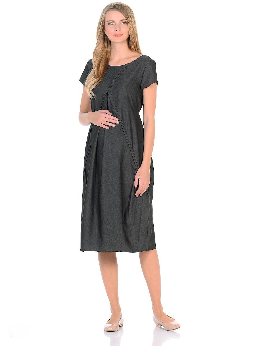 Платье300318Женственное платье из легкого денима для беременных. Модель с короткими рукавами, с округлым вырезом горловины по переду и V образным на спинке. Платье свободного покроя в форме тюльпана, специальные отстрочки по переду образуют аккуратные складки, создающие объем для животика. Платье превосходно садится по фигуре, благодаря продуманному крою и вытачкам, в тачными поясами можно регулировать силуэт. В таком платье беременная женщина будет чувствовать себя всегда комфортно, и выглядеть стильно и современно.