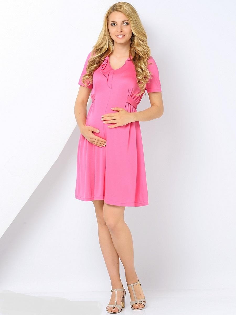 Платье300369/Элегантное платье для беременных, выполненное из мягкого, трикотажного полотна. С округлой горловиной, с рельефным подрезом, мягкими складами на живот, что даем возможность носить это платье на всем сроке беременности и после нее. Отложной воротник, пояс и манжеты выполнены из однотонной ткани, сзади застежка молния. Уникальный крой и состав позволит вам отлично выглядеть и с комфортом носить это платье как на праздниках, на работе в офисе, так и каждый день.