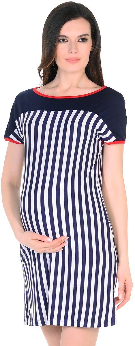 Платье301304/1Легкое повседневное платье для беременных женщин из вискозного полотна в полоску. Модель свободного силуэта, с высокой однотонной кокеткой, короткие рукава цельнокроеные, округлый вырез горловины обработан контрастной окантовкой. Благодаря правильному крою и мягкости ткани, платье хорошо садиться по фигуре, не сковывает движений, создает комфорт на любом сроке беременности. Вискозное полотно обладает эффектом легкой прохлады, приятно для тела, не мнется, плавно струится. К тому же такое платье привлекает внимание еще и своей универсальностью, его можно носить и после рождения малыша, вертикальная полоска визуально вытягивает фигуру, корректирует временные несовершенства, делая образ более стройным и привлекательным.