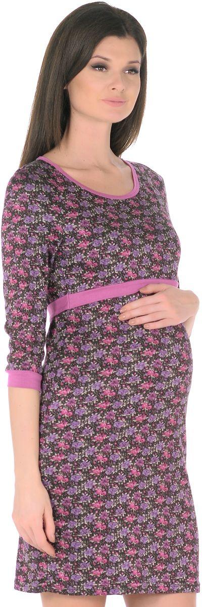 Платье301309Модное платье для беременных и кормящих женщин. Модель с рукавами-реглан 3/4 и с округлым вырезом горловины, выполнена из приятного к телу трикотажа в привлекательной расцветке, края оформлены контрастной окантовкой. Платье имеет уникальный секрет кормления. Для комфортного и незаметного кормления малыша, достаточно приподнять верхний слой кокетки, и с комфортом покормить малыша грудью, незаметно для окружающих. Платье превосходно садится по фигуре, красиво подчеркивая женственные формы, в тачными поясками по бокам можно регулировать силуэт делая его более совершенным.