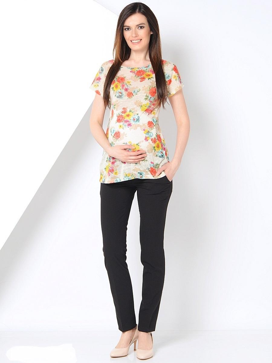Брюки101193Классические брюки для беременных зауженные к низу. Брюки идеально садятся по фигуре, благодаря тонкой текстильной ткани с добавлением эластана. Модель с эластичной вставкой для животика и с регулируемой резиночкой в поясе, что позволяет носить такие брюки на протяжении всего срока беременности и после него. Такие брюки гармонично сочетаются с любыми блузками, рубашками, футболками.