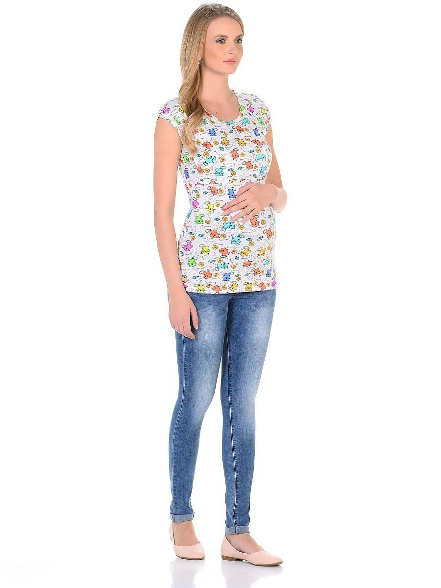Джинсы103187Джинсы для беременных зауженного кроя, с высокой посадкой по талии. Имеют трикотажную кокетку с регулируемой резиночкой в поясе, что позволяет носить такие джинсы с комфортом, на любом сроке беременности и после рождения малыша. Передние и задние накладные карманы дополнены для практичности специальными заклепками в уголках, которые спасают джинсы от распарывания по шву. На задних карманах стильные отстрочки. Вертикальные потертости визуально вытягивают, делая ноги стройнее. Благодаря оптимальному содержанию эластана, джинсы отлично садятся на любую фигуру, не сковывают движений, хорошо держат форму. Джинсы универсальны в своем применении, они комбинируются со многими предметами гардероба, в джинсах образ выглядит стильно, современно и безупречно в любой ситуации.